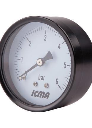 """Манометр Icma 1/4"""" 0-6 бар, заднє підключення №243"""