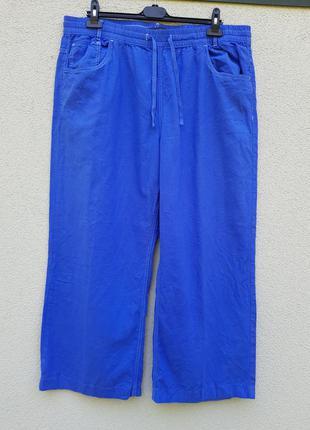 Лёгкие летние штаны шорты бриджи лен вискоза marks&spencer