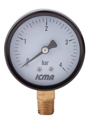 """Манометр Icma 1/4"""" 0-4 бар, нижнє підключення №244"""