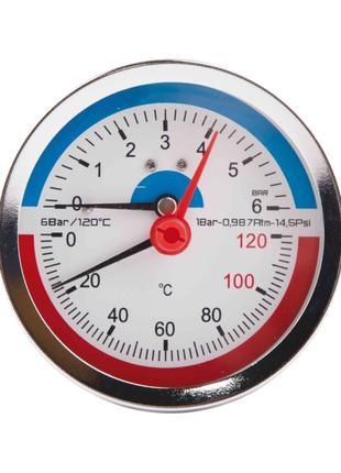 """Термоманометр SD Plus 80х1/2"""", заднє підмикання"""