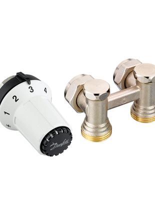 Комплект для підмикання сталевих радіаторів Danfoss RAS-CK+RLV...