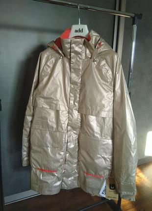 Новая, высокотехнологичная куртка burton золотистая парка 100%...