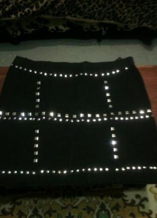 Короткая эффектная юбка размера плюс сайз 44 евро укр 52-54