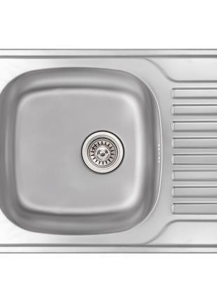 Кухонна мийка Qtap 6550 Micro Decor 0,8 мм (QT6550MICDEC08)