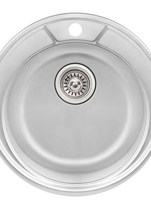 Кухонна мийка Qtap D490 Micro Decor 0,8 мм (QTD490MICDEC08)