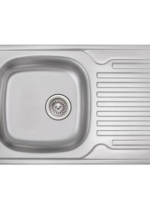 Кухонна мийка Qtap 7850 Micro Decor 0,8 мм (QT7850MICDEC08)