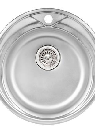 Кухонна мийка Qtap D510 Micro Decor 0,8 мм (QTD510MICDEC08)