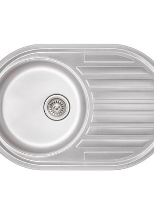 Кухонна мийка Qtap 7750 Micro Decor 0,8 мм (QT7750MICDEC08)