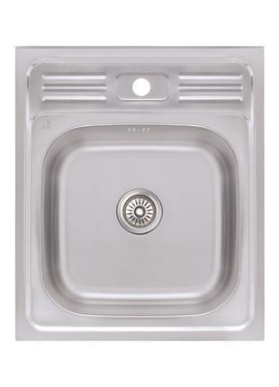 Кухонна мийка Lidz 5060 Decor 0,6 мм (LIDZ506006DEC)