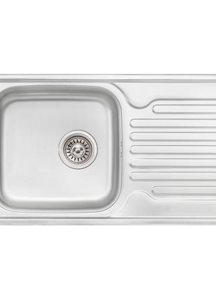 Кухонна мийка Qtap 7843 Micro Decor 0,8 мм (QT7843MICDEC08)