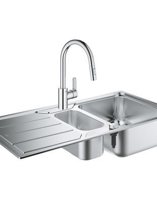 Набір Grohe мийка кухонна K500 31572SD0 + змішувач Eurostyle C...