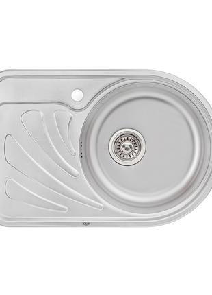 Кухонна мийка Qtap 6744R Micro Decor 0,8 мм (QT6744RMICDEC08)