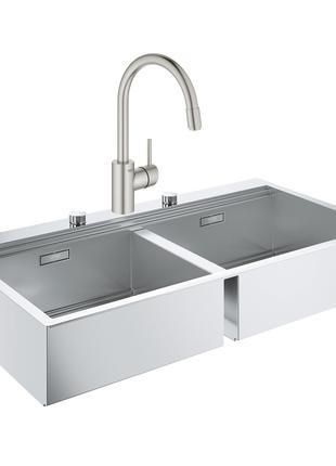 Набір Grohe мийка кухонна K800 31585SD0 + змішувач Concetto 32...