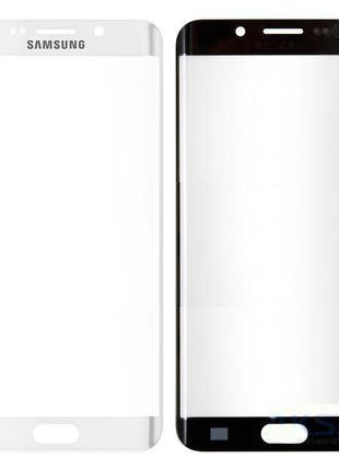 Стекло для переклейки Samsung G928F Galaxy S6 Edge Plus (White...