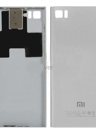 Задняя крышка для Xiaomi Mi3 (Silver) Качество