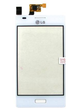 Тачскрин (сенсор) для LG E610 Optimus L5 (E612) (White) Original