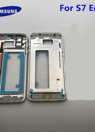 Средняя часть корпуса для Samsung G935F Galaxy S7 Edge (White)...