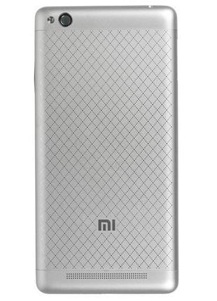 Задняя крышка для Xiaomi Redmi 3 (Silver) Original