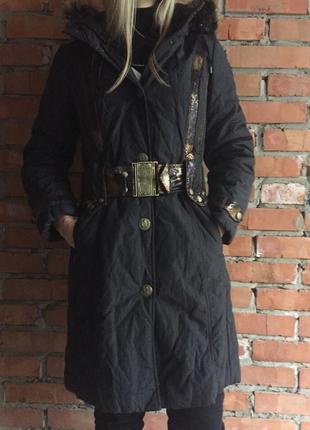 Натуральный пуховик пальто с мехом енота на верблюжьей шерсти ...