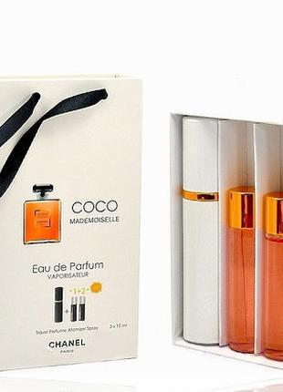 Chanel Coco Mademoiselle edp 3x15ml - Trio Bag
