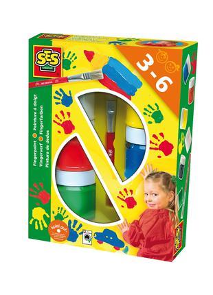 Пальчиковые краски - ЦВЕТНЫЕ ЛАДОШКИ (6 цветов в пластиковых б...