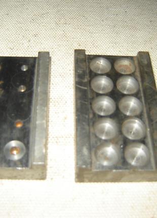 2 шт. стальные фрезерованные и полированные половины для формы