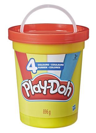 PLAY DOH Набор игровой Большая банка 4 цвета