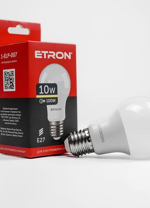 LED лампа ETRON Light 1-ELP-007 A60 10W 3000K E27
