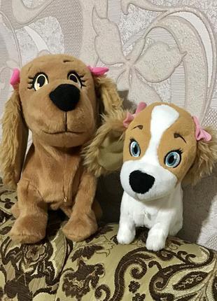 Люсі і лола інтерактивні м'які собачки lola lucie лот