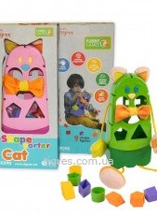 """Сортер """"Котик"""" пластиковый, Тигрес 39290 для детей от 1 года, ..."""