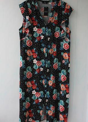 Платье- халат в цветах papaya на 16- 18 размер