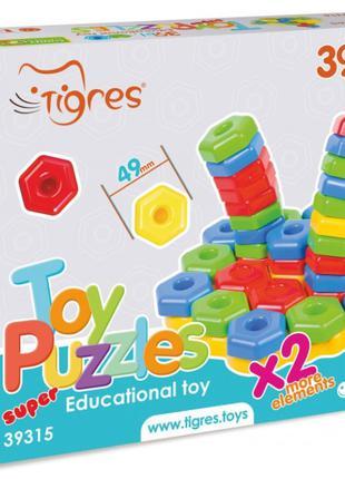 Развивающая игрушка Мозаика Игро-пазлы, 39 элементов, 39315, д...