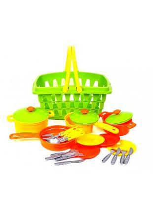 Набор посудки детский, пластиковый, Технок 4456