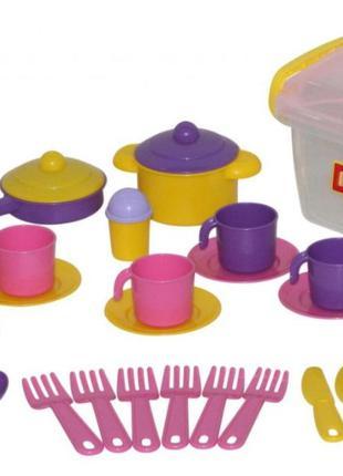 Набор детской посудки Настенька на 6 персон 57679