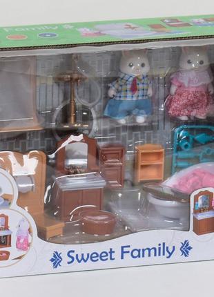 Игровой набор мебели для ванной с фигурками Счастливая семья, ...