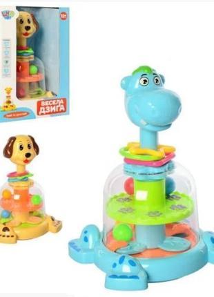 Юла детская Собака с шариками, SL83060, для детей от 1 года, П...