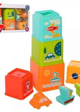 Пирамидка детская Транспорт. HE0225, для детей от 1 года