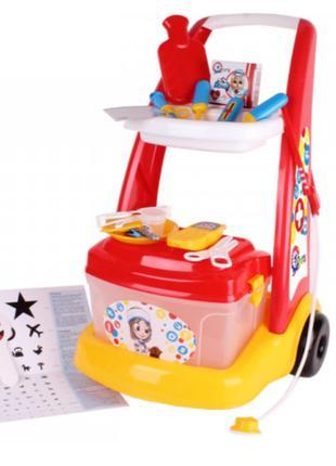 Игровой набор Маленький Доктор, на тележке, ТехноК 6504, для д...