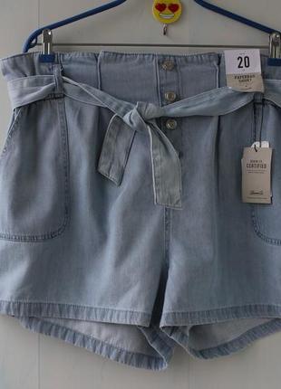 Джинсовые шорты мом в винтажном стиле  с потертостями с высоко...