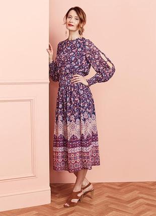 Шикарное платье миди anthology, 30-32 размер