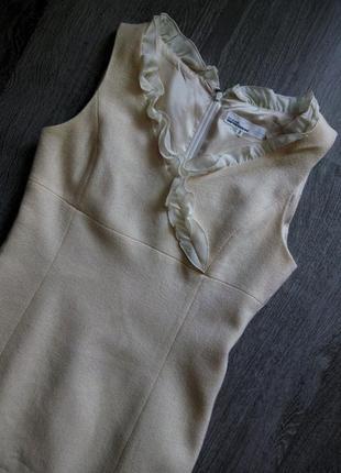 Изысканное платье айвори с шерстью ягненка в английском стиле ...
