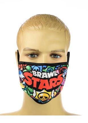 Маска brawl stars разноцветная
