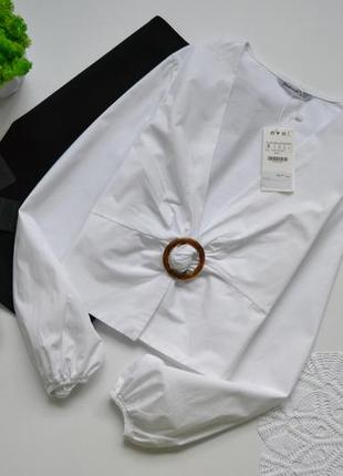 Stradivarius блуза білого кольору