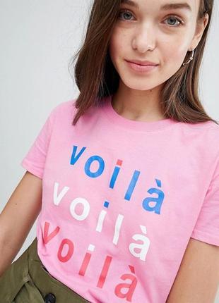 Тотальная распродажа! крутейшая розовая футболка с принтом