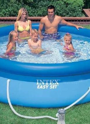 Надувной бассейн в дом Intex Easy Set Pool, 305х76 см