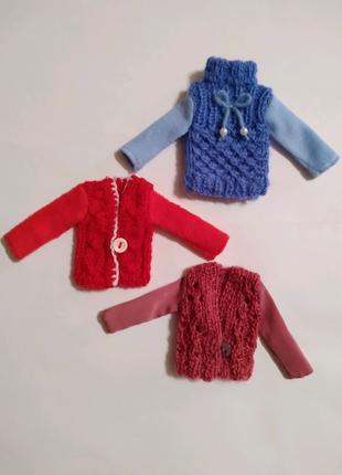 Одежда для куклы Барби -вязаные кофты, свитера