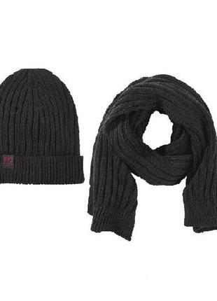 Вязаный комплект шапка и шарф для мальчика pepperts, германия