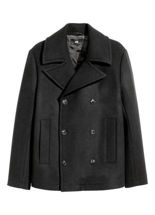 Пальто двубортное h&m (шерсть) размер 52 56