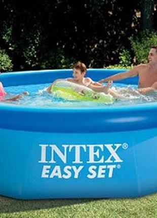 Семейный наливной бассейн Intex Set Pool, фильтр-насос, размер...
