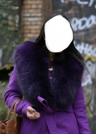 Зимнее женское мех пальто хутро тренч с мехом💖демисезонное енот